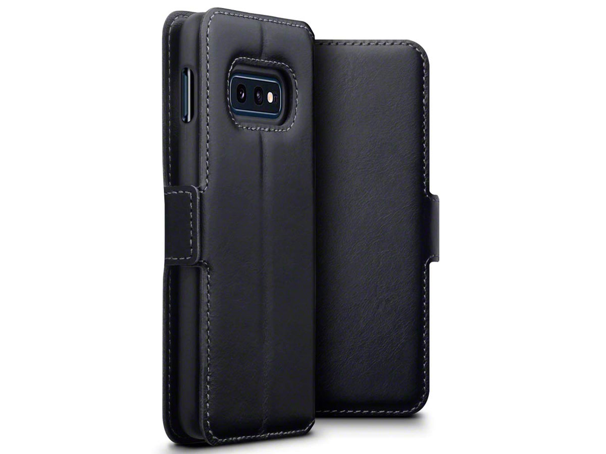 CaseBoutique Wallet Case Zwart Leer - Galaxy S10e hoesje