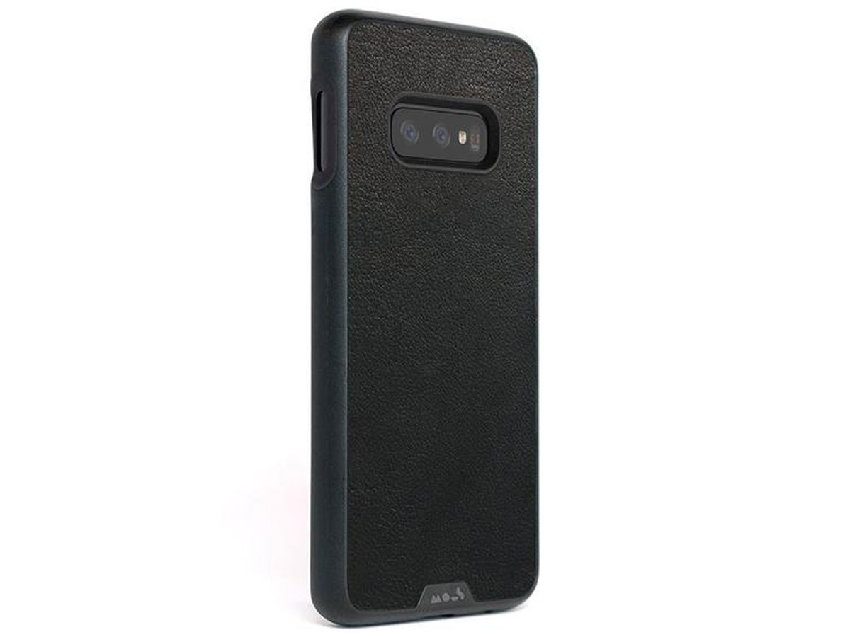 Mous Limitless 2.0 Leather Case - Samsung Galaxy S10e hoesje Zwart
