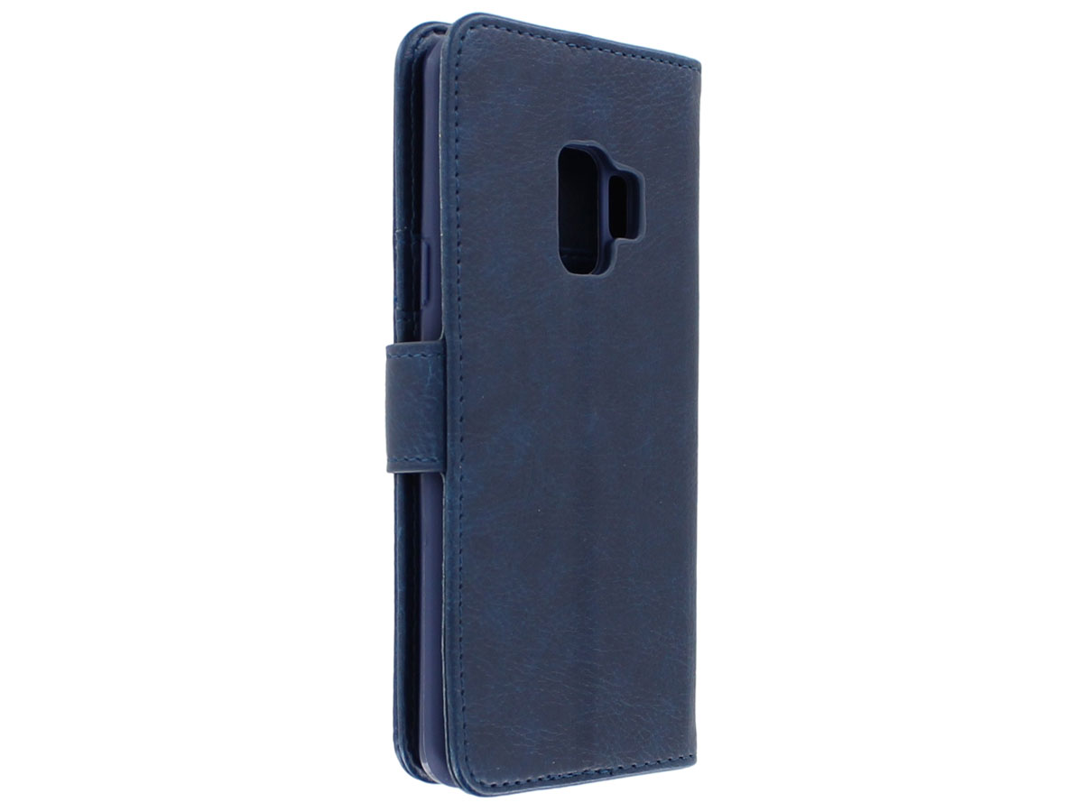 Bookcase Deluxe Navy - Samsung Galaxy S9 hoesje