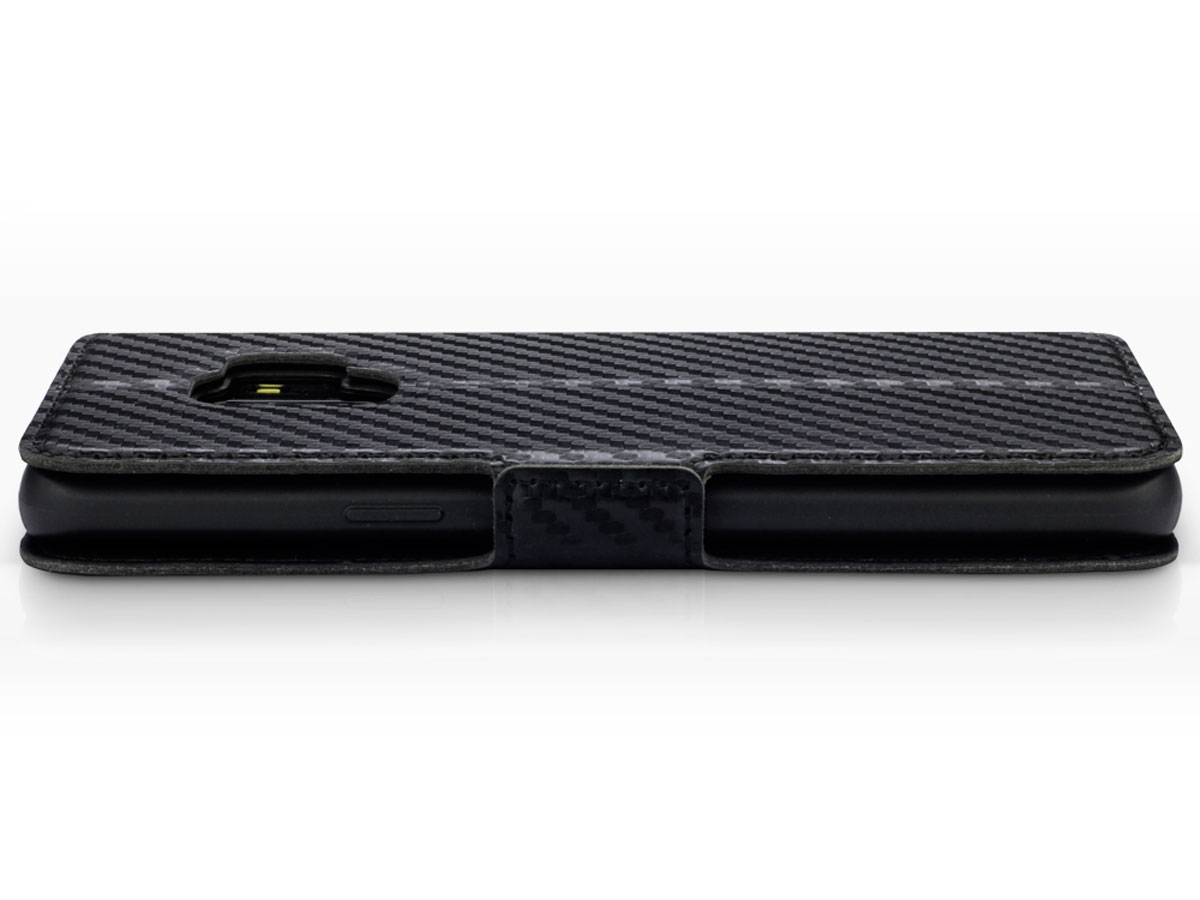 Covert Slim Bookcase Carbon - Samsung Galaxy S9 hoesje