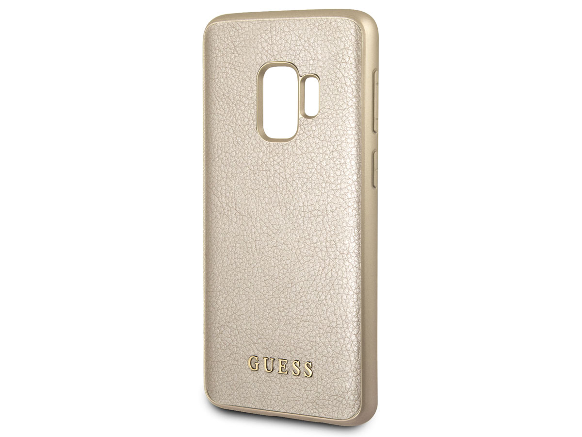 Guess Iridescent Case Goud - Samsung Galaxy S9 hoesje