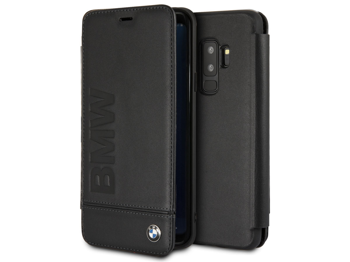 BMW Logo Leather Bookcase - Samsung Galaxy S9+ Hoesje