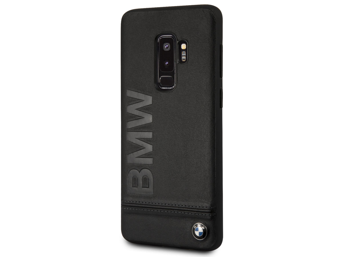 BMW Logo Leather Case - Samsung Galaxy S9+ Hoesje Leer