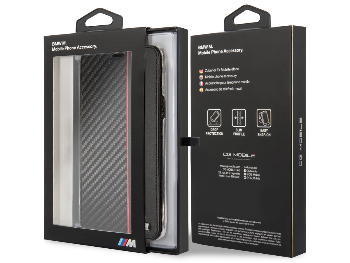 BMW M Sport Bookcase Rood - Samsung Galaxy S9+ hoesje