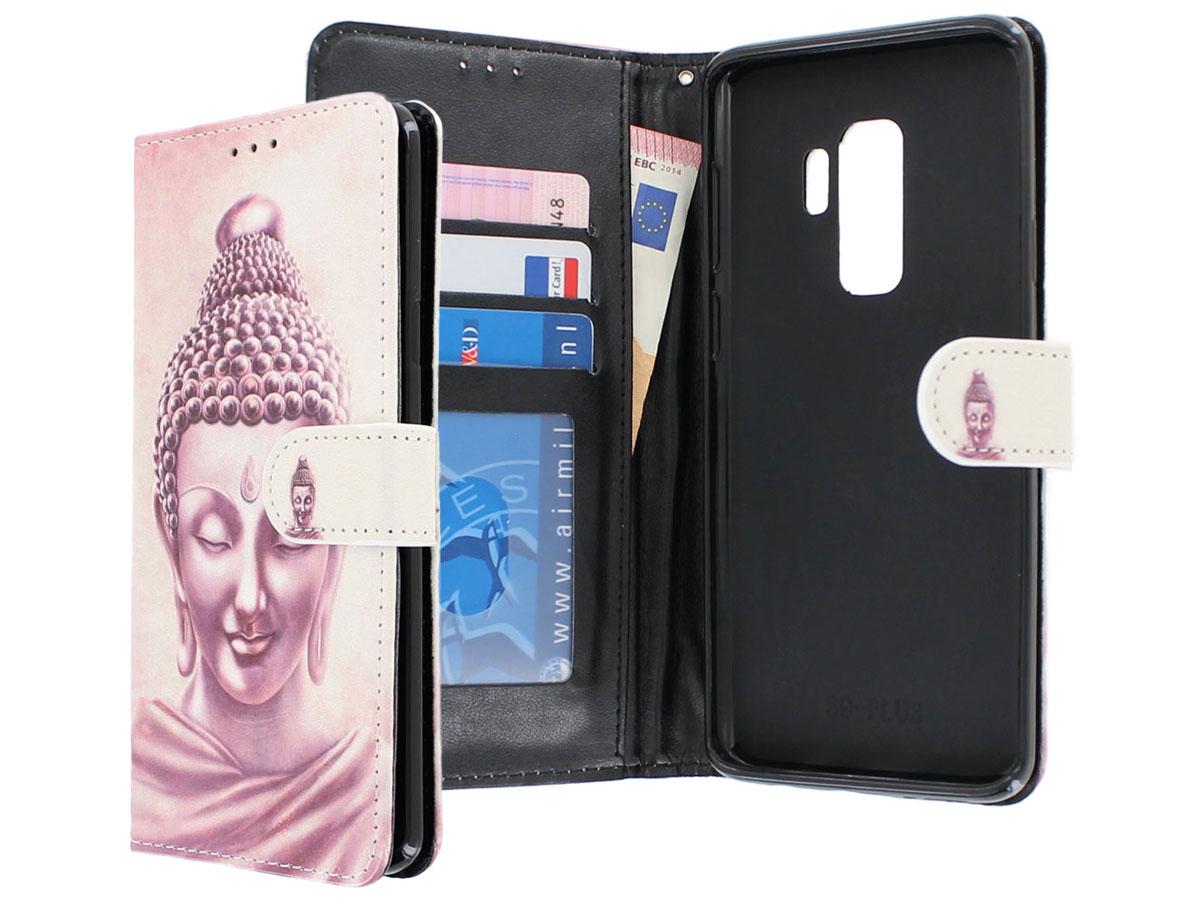 Boeddha Bookcase Wallet - Samsung Galaxy S9+ hoesje Boeddha print