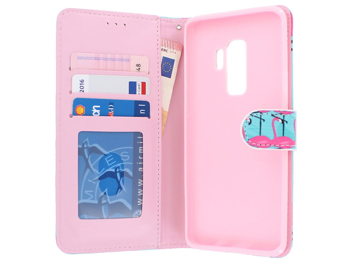 Flamingo Bookcase Wallet - Samsung Galaxy S9+ hoesje