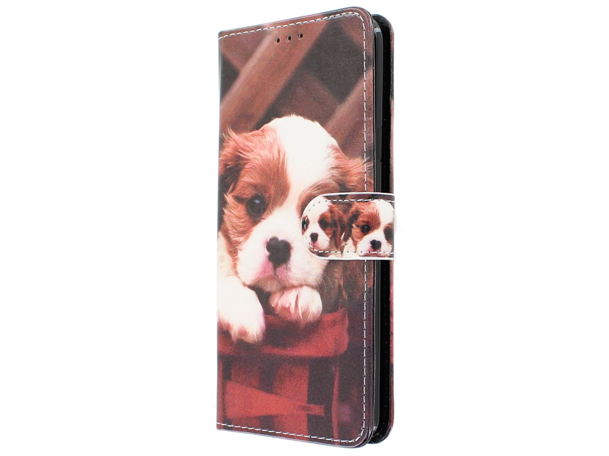 Puppy Dog Bookcase Wallet - Samsung Galaxy S9+ hoesje
