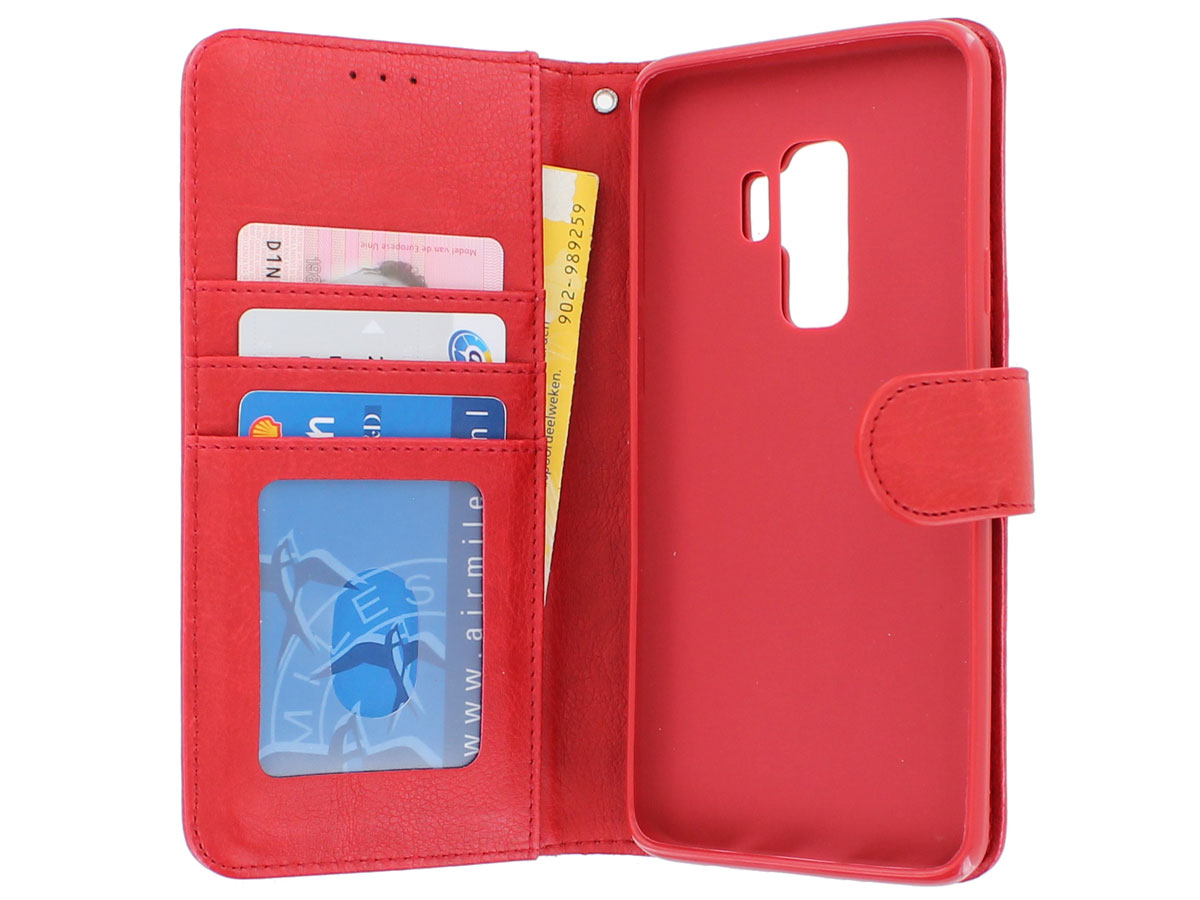 Bookcase Deluxe Rood - Samsung Galaxy S9+ hoesje