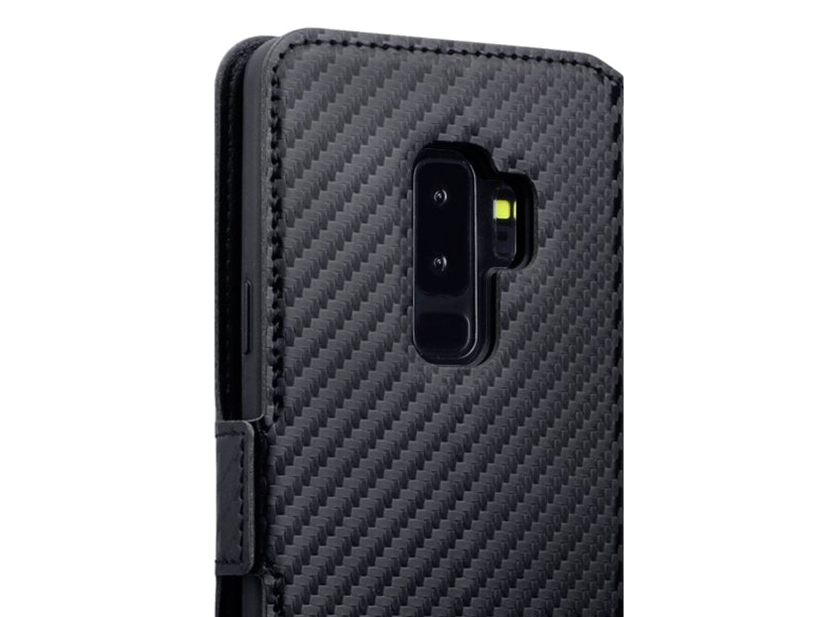 Covert Slim Bookcase Carbon - Samsung Galaxy S9+ hoesje