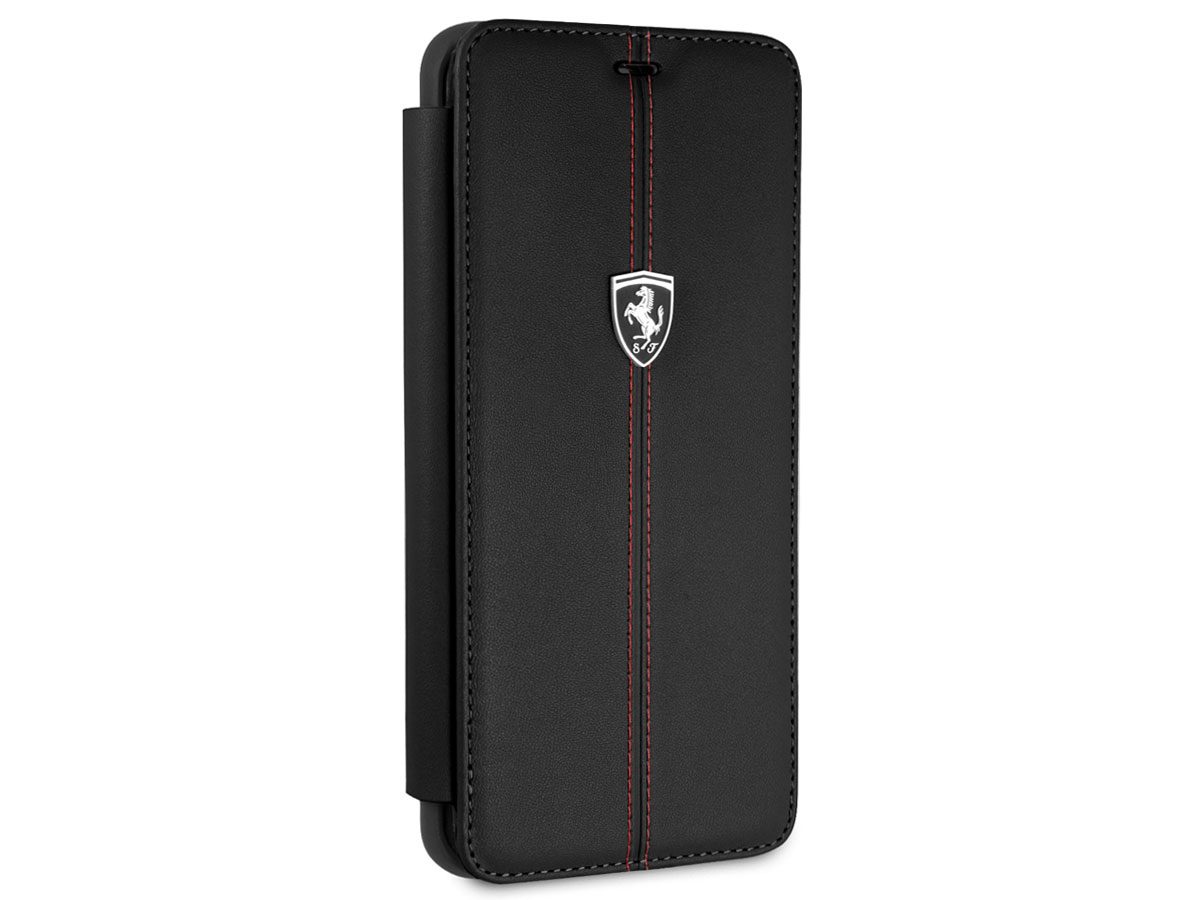 Ferrari Leather Bookcase - Samsung Galaxy S9+ Hoesje