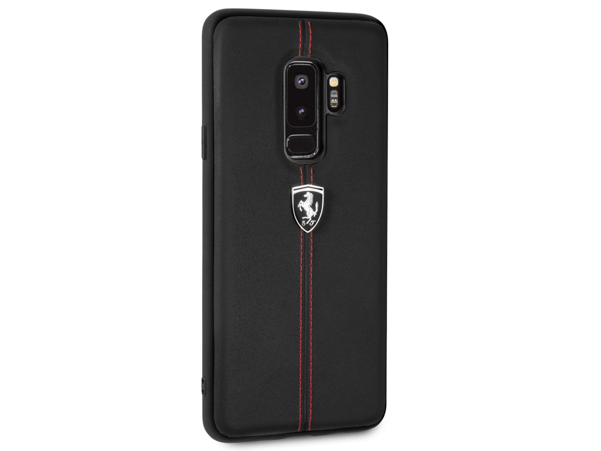 Ferrari Leather Case - Samsung Galaxy S9+ Hoesje Leer
