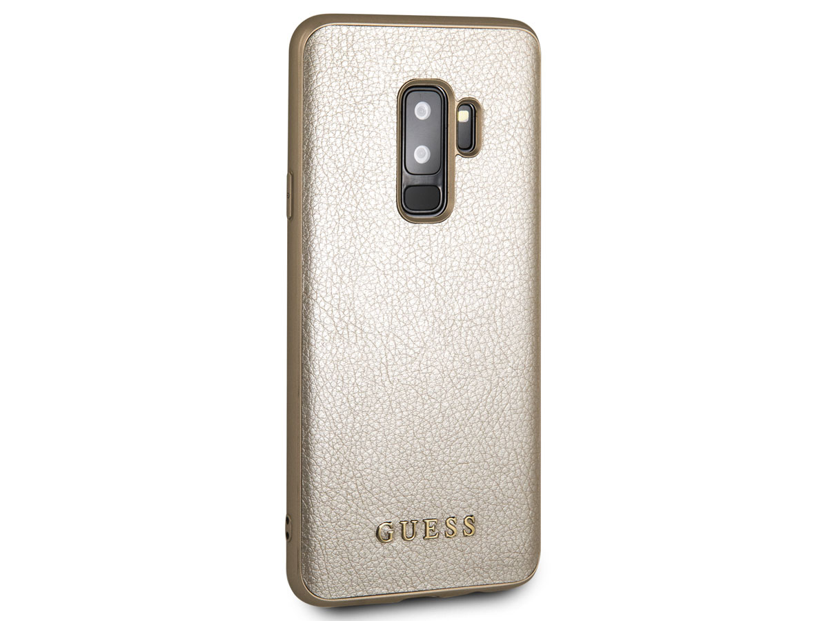 Guess Iridescent Case Goud - Samsung Galaxy S9+ hoesje