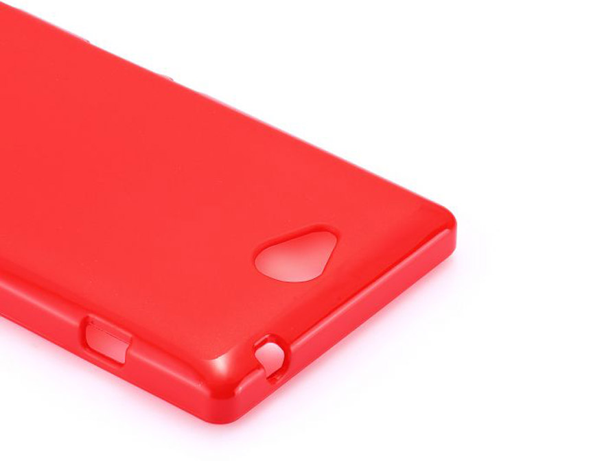 Color Series TPU Soft Case Hoesje voor Sony Xperia C