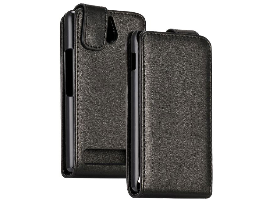 Business Leather Flip Case - Hoesje voor Sony Xperia E1