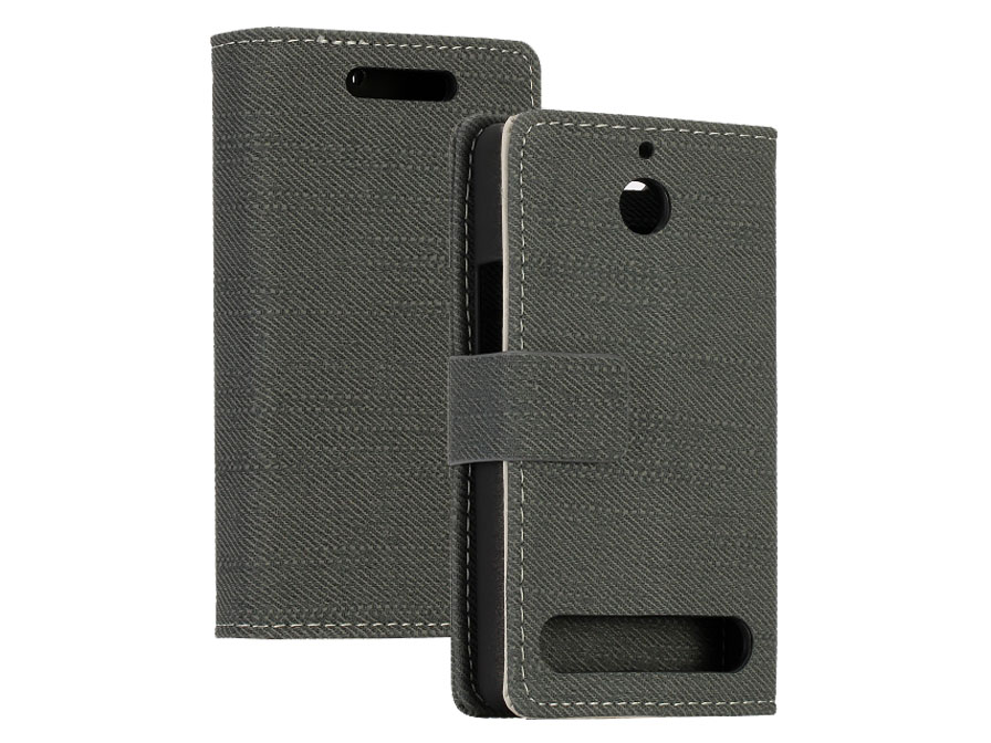 Canvas Wallet Case - Hoesje voor Sony Xperia E1