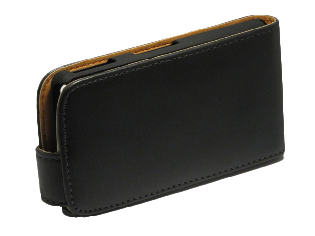 Classic Leather Flip Case voor Sony Xperia Go (ST27i)