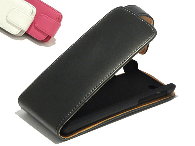 Classic Leather Flip Case voor Sony Xperia J (ST26i)