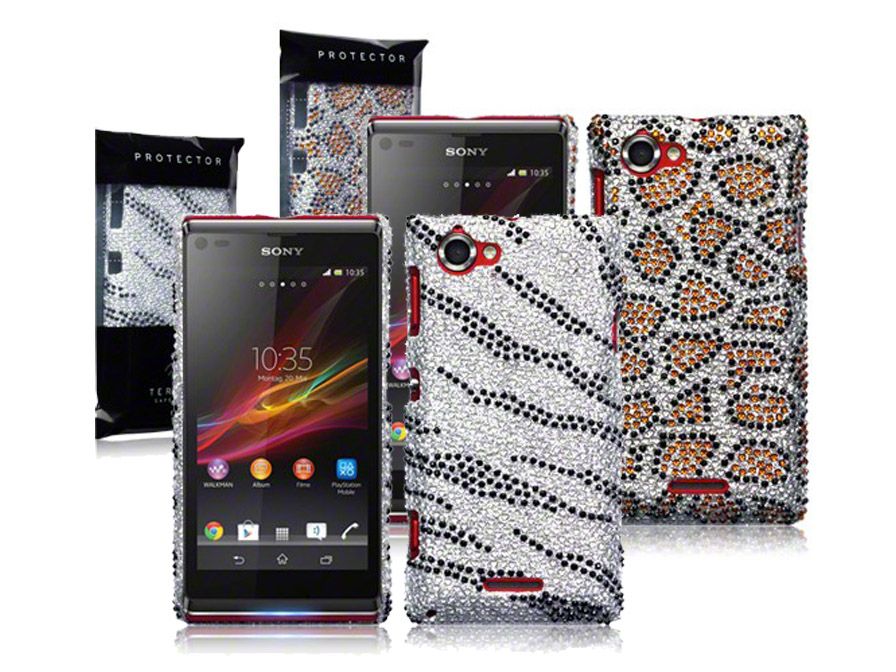 CaseBoutique Safari Diamante Case Hoesje voor Sony Xperia L