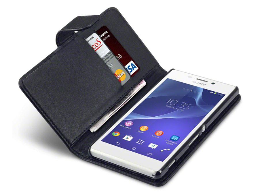 Qubits Wallet Case Hoesje Voor Sony Xperia M2