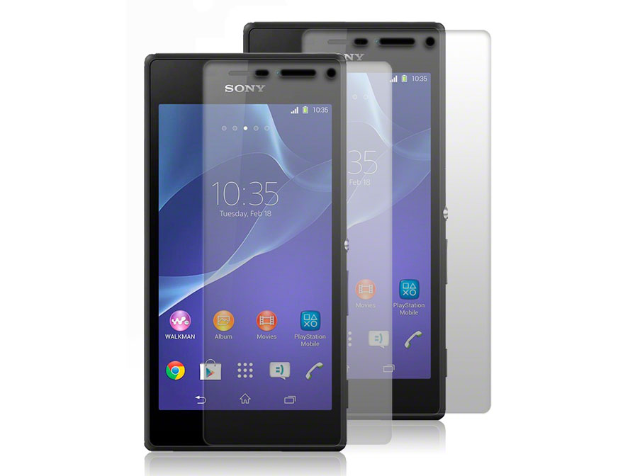 Clear Screenprotector voor Sony Xperia M2 (2-pack)