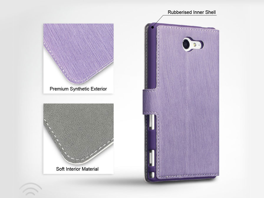 Covert UltraSlim Book Case - Hoesje voor Sony Xperia M2