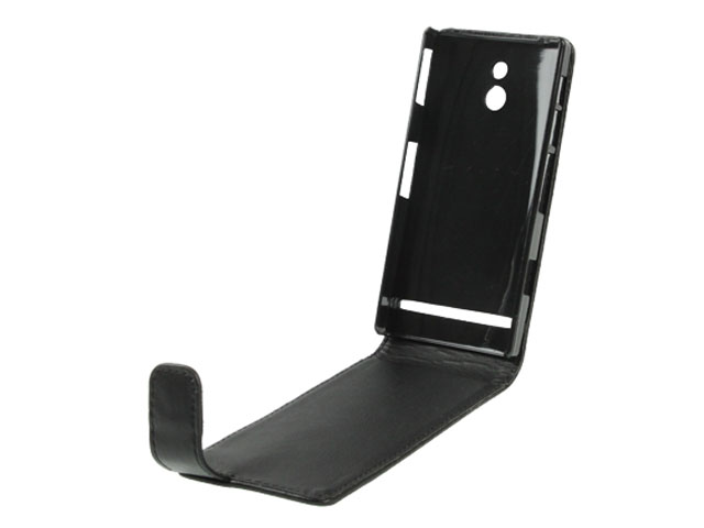Business Leather Flip Case voor Sony Xperia P (LT22i)