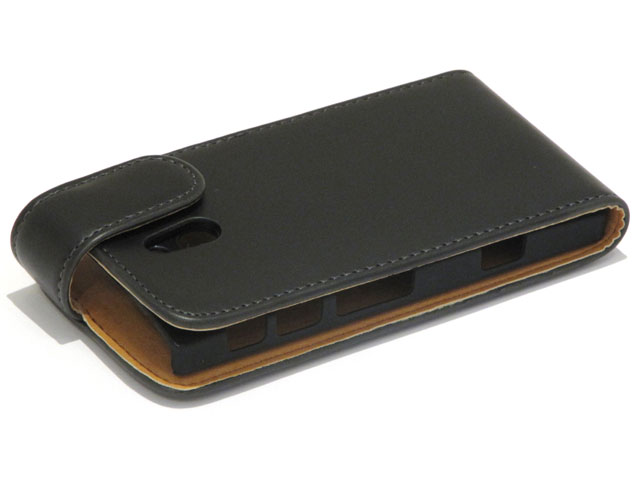 Classic Leather Flip Case voor Sony Xperia P (LT22i)