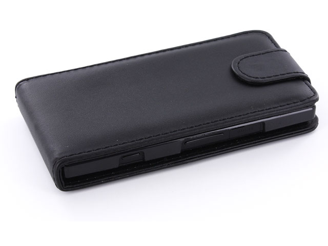 Business Leather Flip Case voor Sony Xperia S