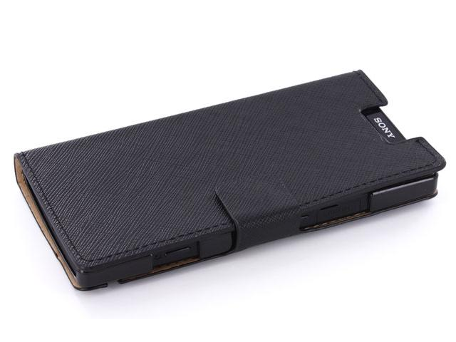 Classic Leather Sideflip Case voor Sony Xperia S