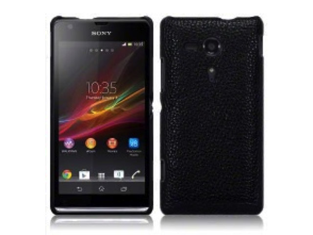 Covert Leather-look Back Case Hoesje voor Sony Xperia SP