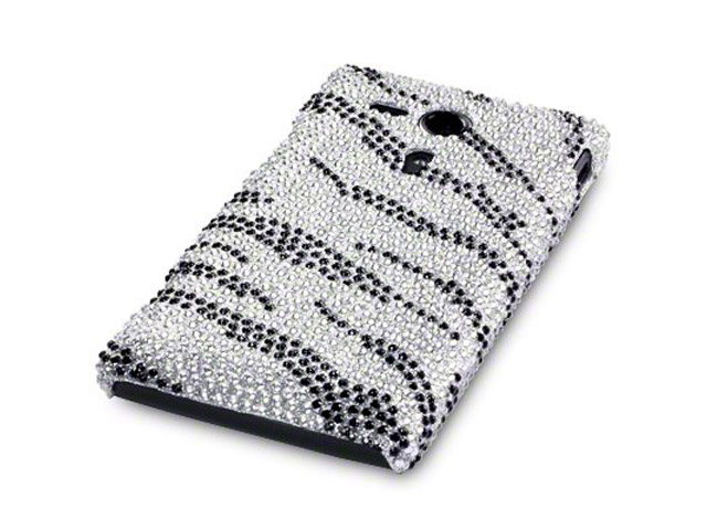 CaseBoutique Safari Diamante Case Hoesje voor Sony Xperia SP