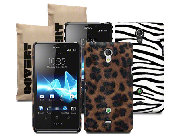 Covert Safari Back Case Hoesje voor Sony Xperia T