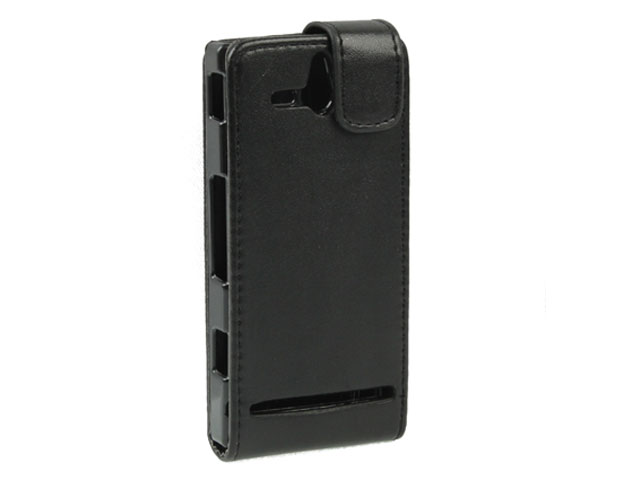 Business Leather Flip Case voor Sony Xperia U (ST25i)