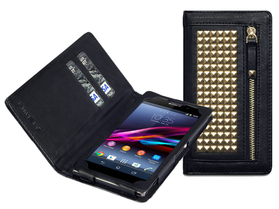 Covert Roxie Studded Wallet Case Hoesje voor Sony Xperia Z1