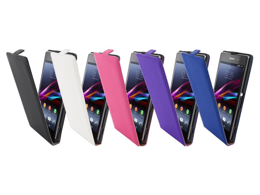 Mobiparts Premium Echt Leren Flip Case Voor Sony Xperia Z1