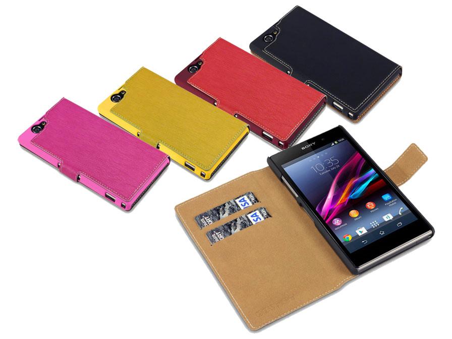 Covert Ultraslim Sideflip Case Hoesje Voor Sony Xperia Z1