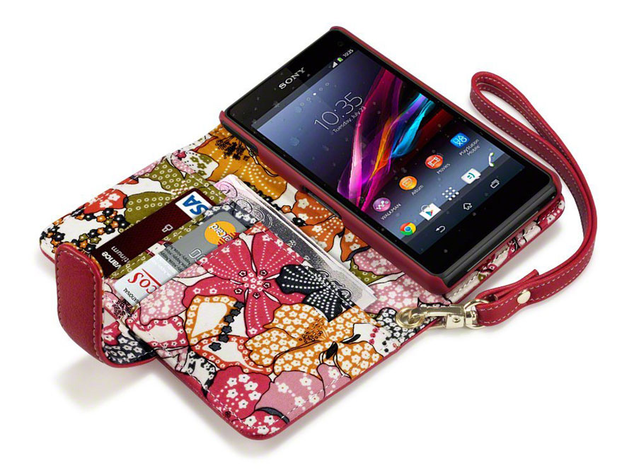 CaseBoutique Lily Wallet Case - Hoesje voor Sony Xperia Z1 Compact