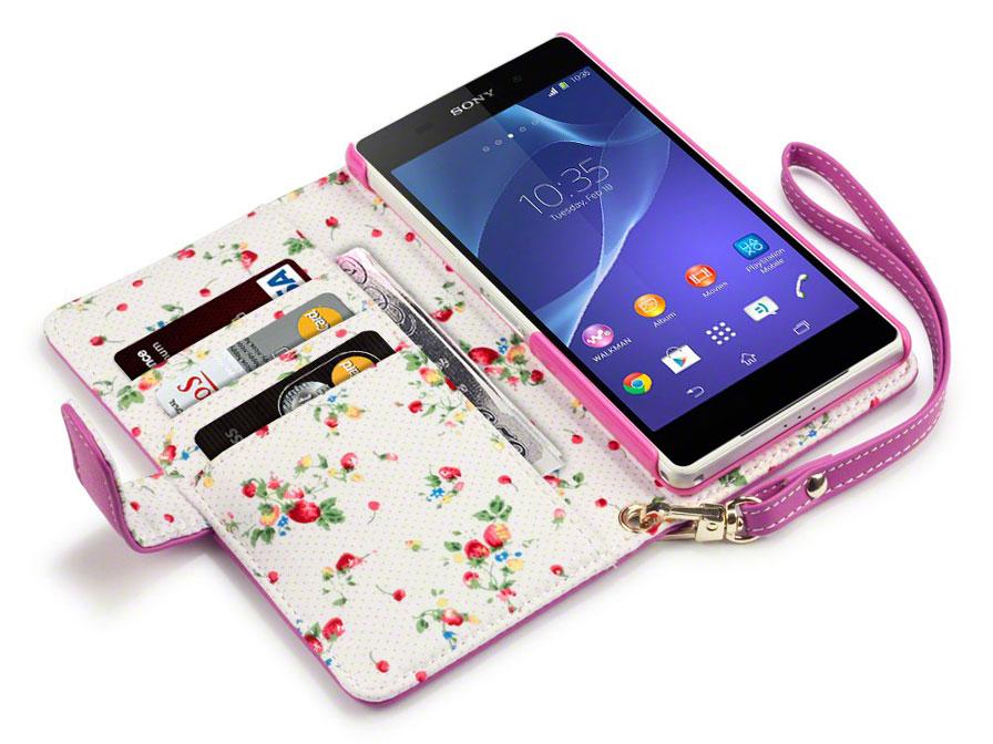 Terrapin Flower Wallet Case Hoesje Voor Sony Xperia Z2
