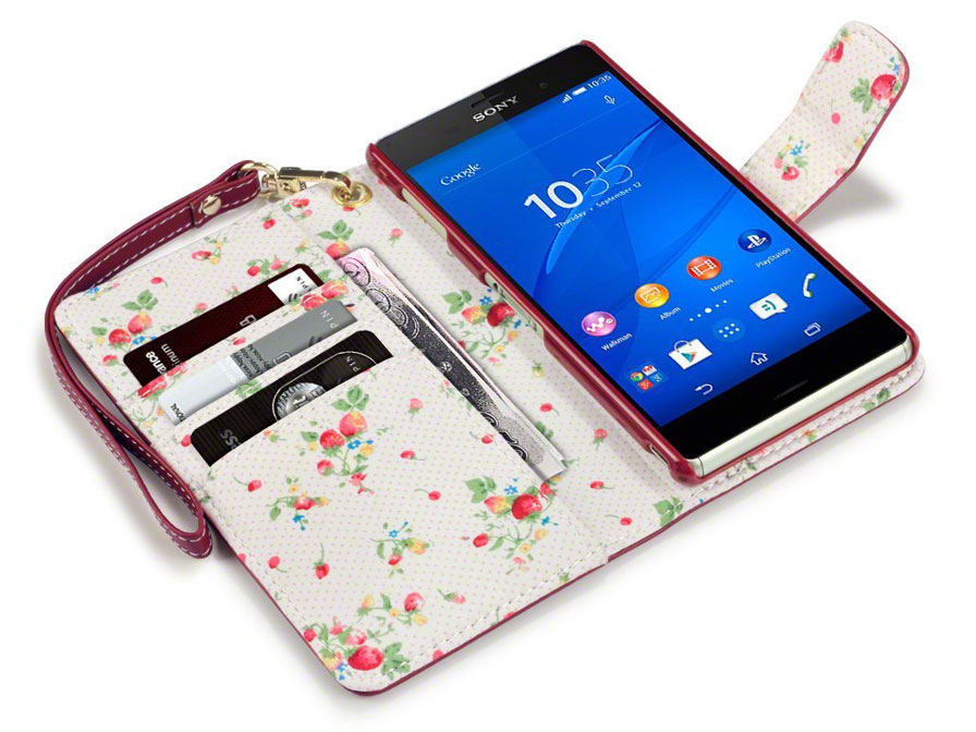 CaseBoutique Flower Wallet Case - Hoesje voor Sony Xperia Z3
