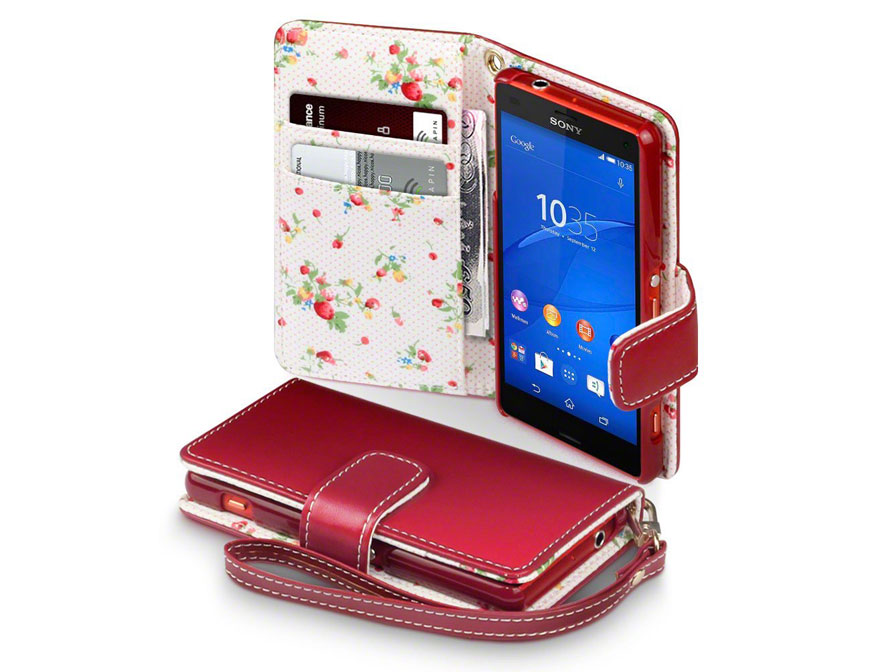 CaseBoutique Flower Wallet Case - Sony Xperia Z3 Compact Hoesje