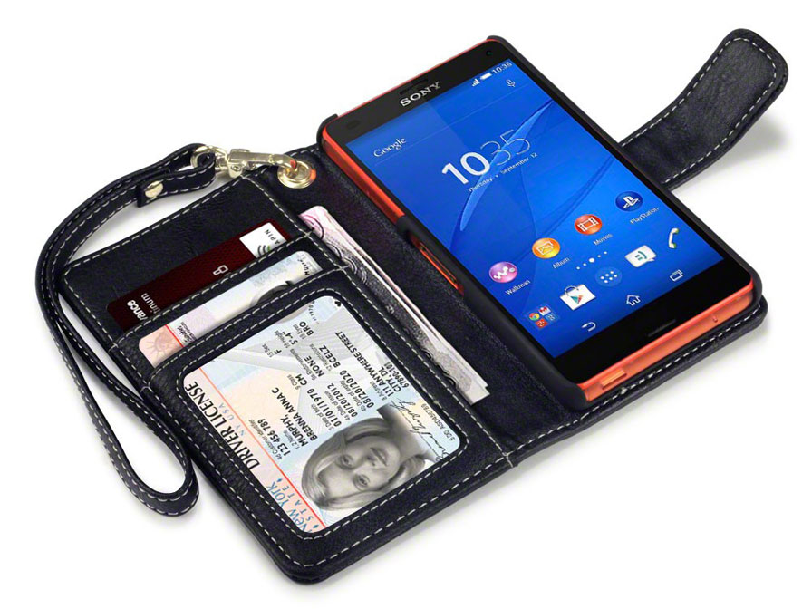 caseboutique gracey wallet case sony xperia z3 compact. Black Bedroom Furniture Sets. Home Design Ideas
