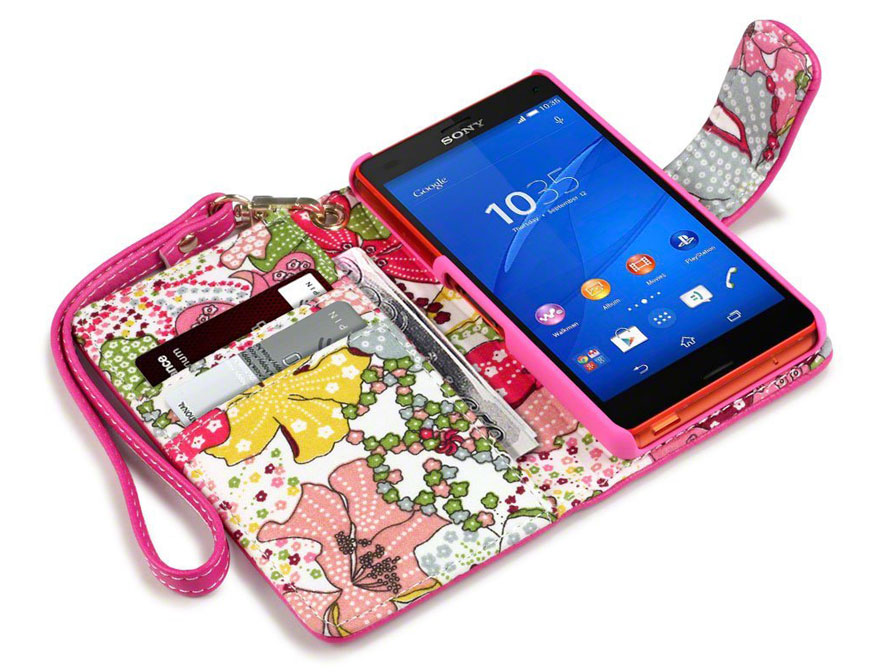 CaseBoutique Lily Wallet Case - Sony Xperia Z3 Compact hoesje