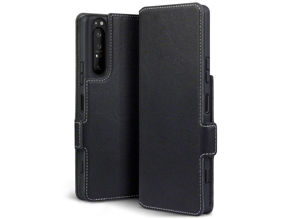 CaseBoutique Slim Bookcase Zwart - Sony Xperia 1 II hoesje