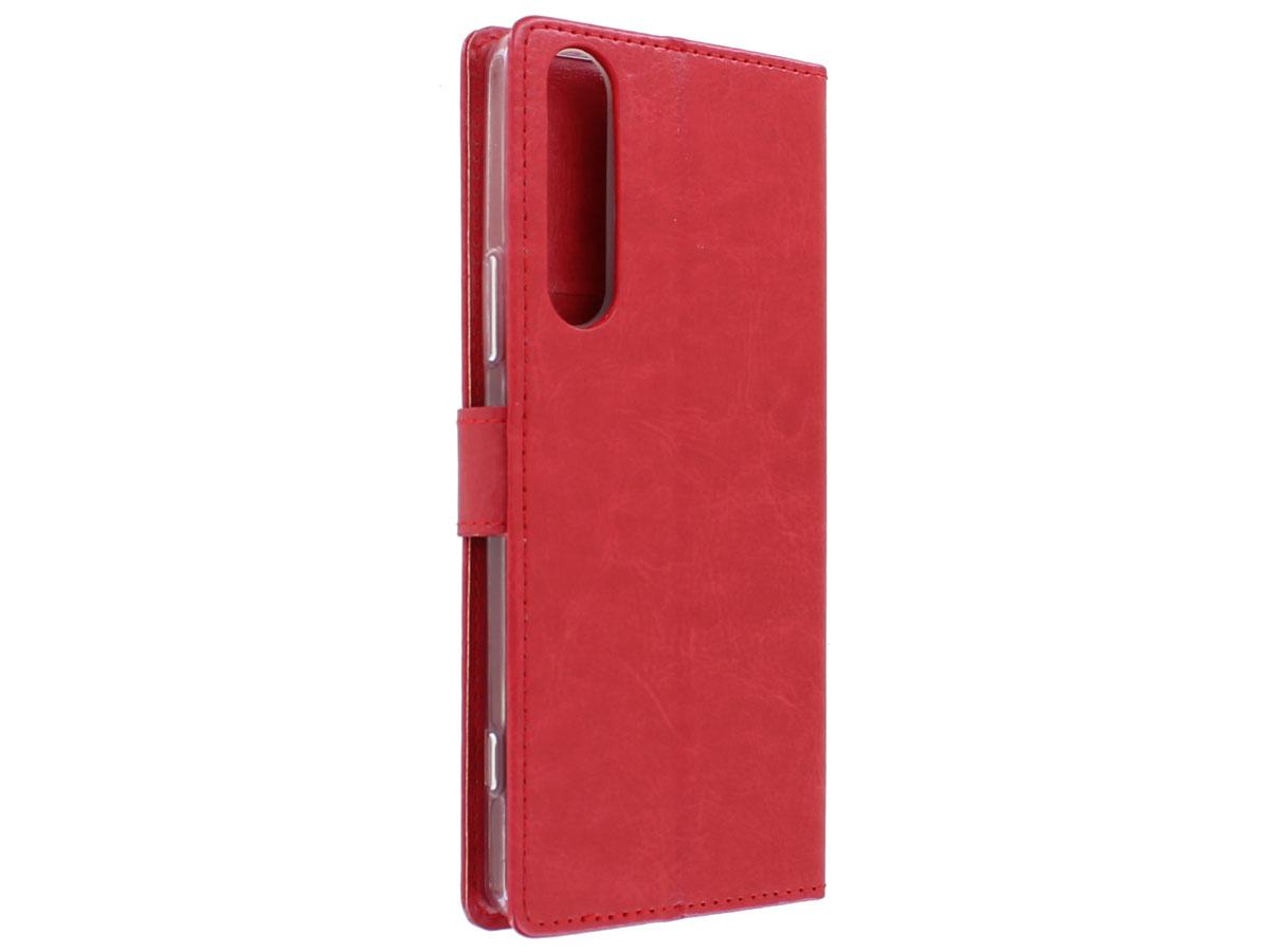 Bookcase Mapje Rood - Sony Xperia 1 II hoesje