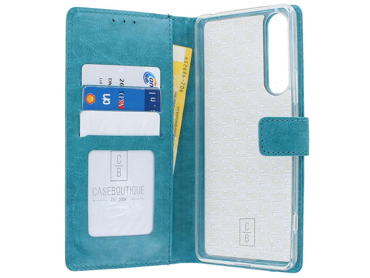Bookcase Mapje Turquoise - Sony Xperia 1 II hoesje