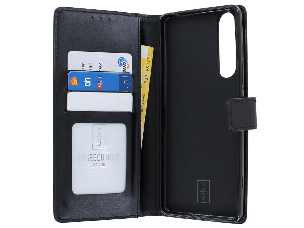 Bookcase Mapje Zwart - Sony Xperia 1 II hoesje