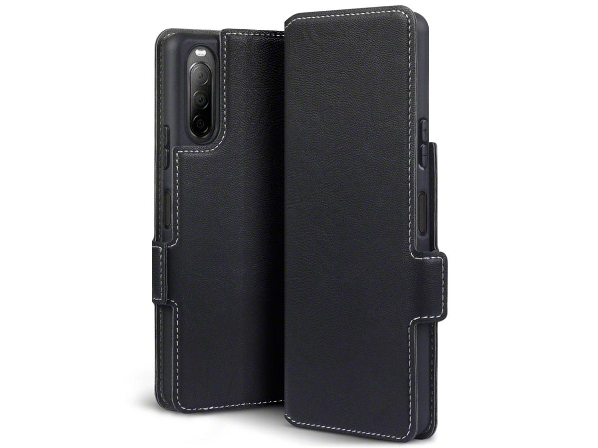 CaseBoutique Slim Bookcase Zwart - Sony Xperia 10 II hoesje