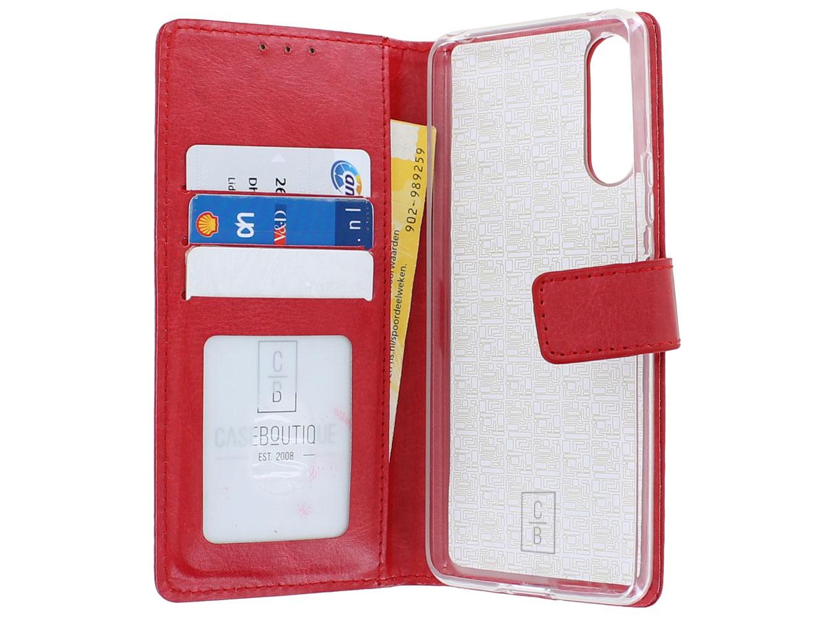 Bookcase Mapje Rood - Sony Xperia 10 II hoesje