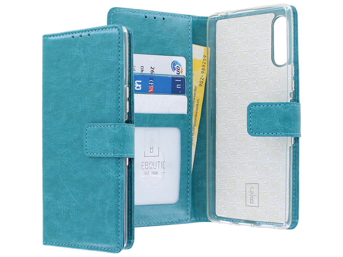 Bookcase Mapje Turquoise - Sony Xperia 10 II hoesje