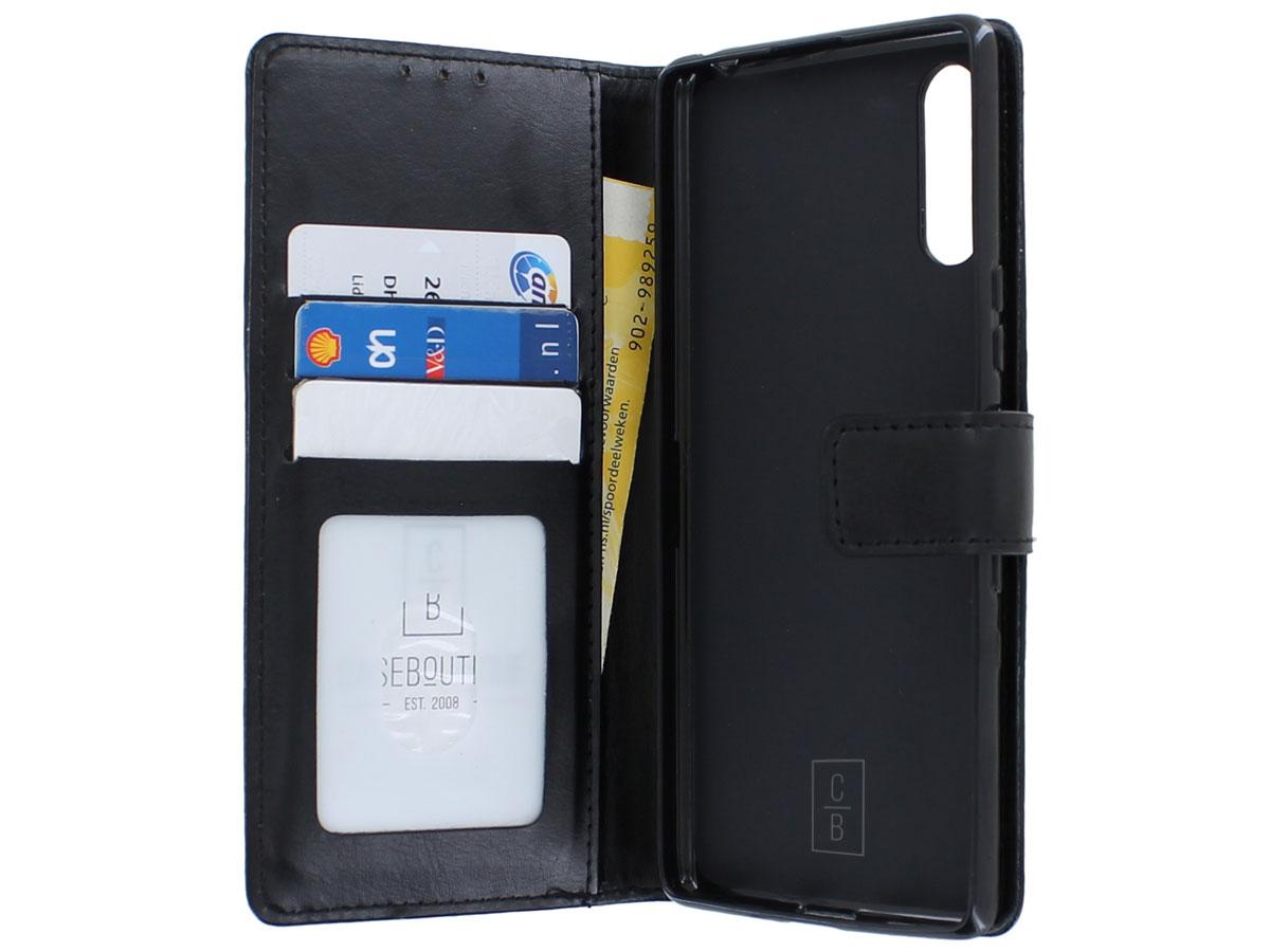 Bookcase Mapje Zwart - Sony Xperia 10 II hoesje